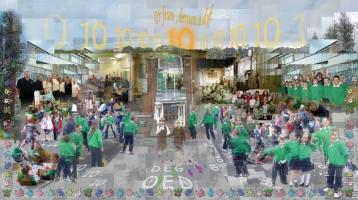 <p>Large format digital print celebrating the first ten years of Ysgol Tirdeunaw in Swansea. </p>