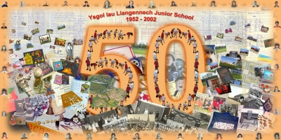 <p>Alastair Duncan's first large format digital print project celebrates Llangennech Primary School's 50th anniversary.</p>