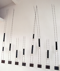 <p>Dialogue - Tapestry weaving, barbed wire and steel - 215 x 211 x 45 cms   Available</p>