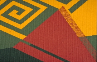 <p>Cycle III (detail) - Tapestry weaving - 120 x 120 cms</p>